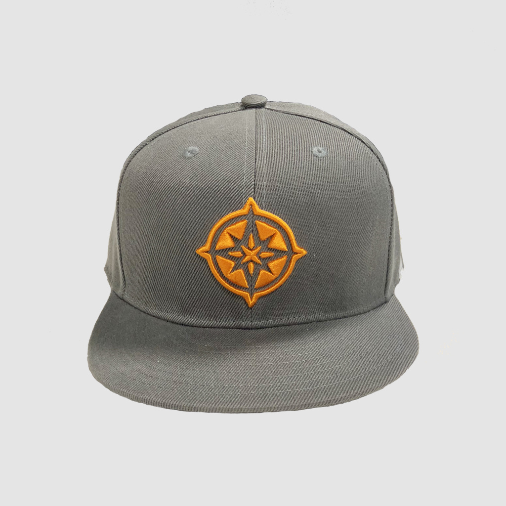 The Qontinent - Orange Compass Snapback
