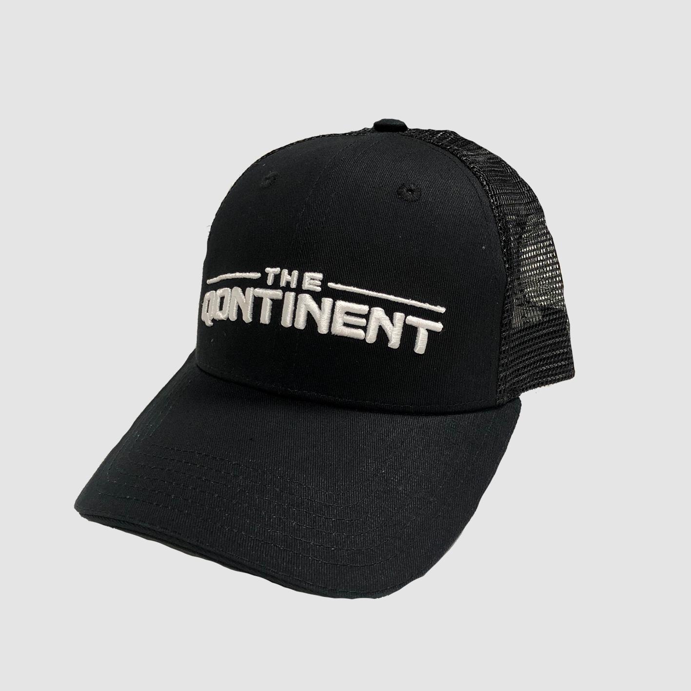 The Qontinent - Classic Black Truckercap