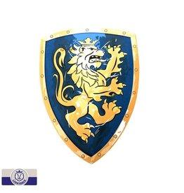 Bouclier mousse lion bleu