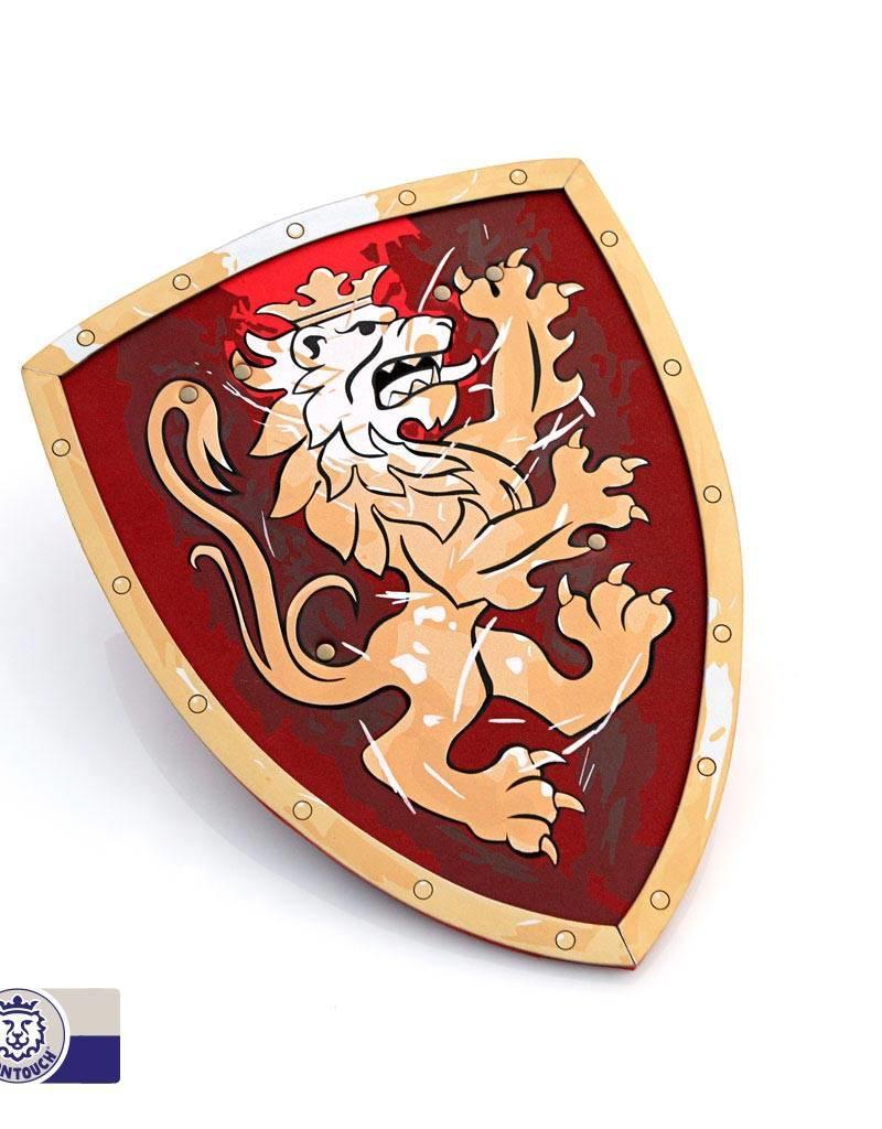 Bouclier mousse lion rouge