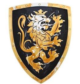 Bouclier mousse lion noir