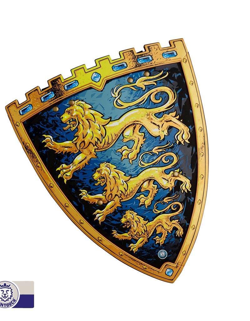 Bouclier mousse lions bleus
