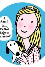 Assiette EN don't eat sweets