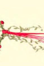 Couronne fleurs rouge