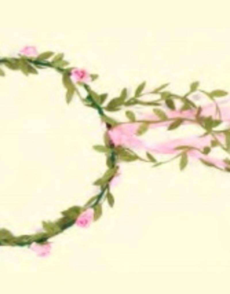 Couronne fleurs rose