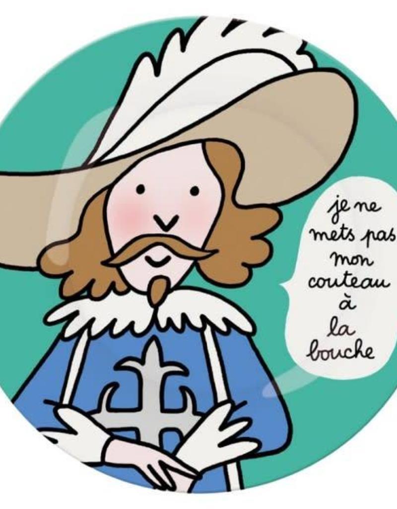 Petit Jour Paris Assiette FR je ne mets pas mon couteau