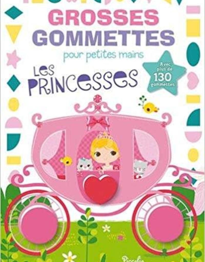 Piccolia L-Les princesses Grosses gommettes pour petites mains