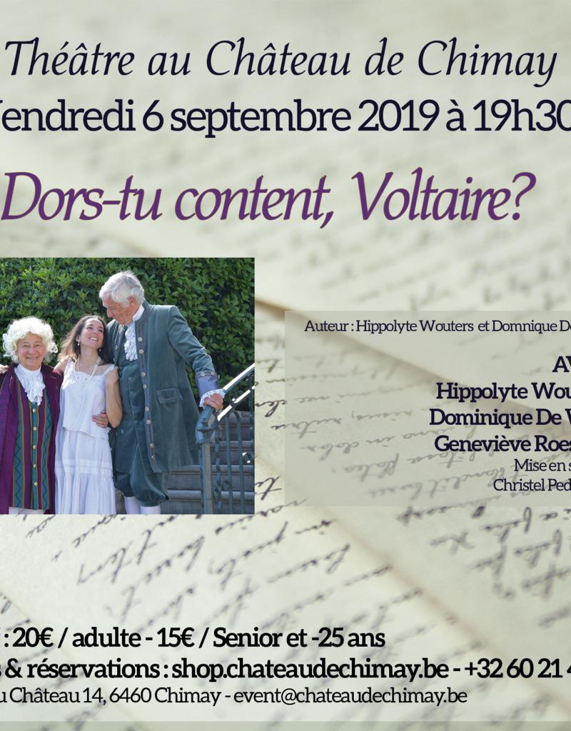 Théâtre Dors-tu content, Voltaire ?
