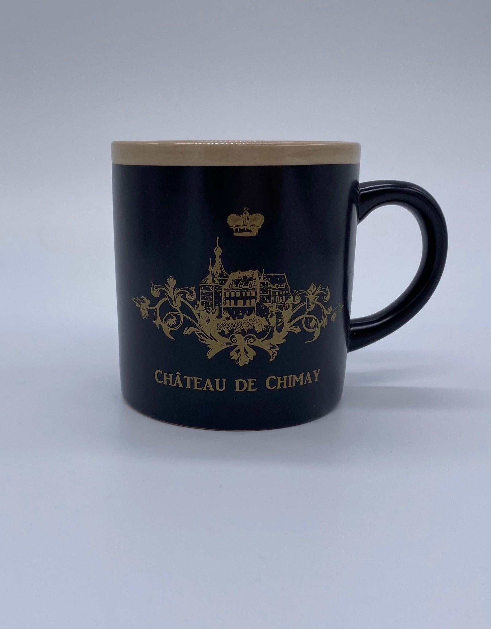 Château de Chimay Tasse café noir/or
