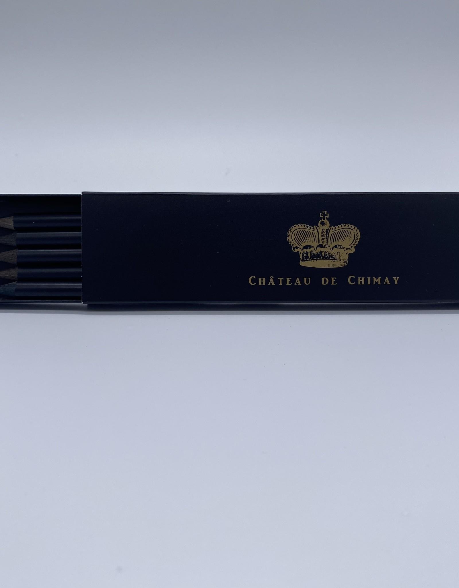 Château de Chimay Boîte 5 crayons noirs Château de Chimay