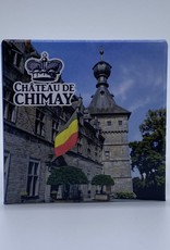 Château de Chimay Magnet métal carré Château