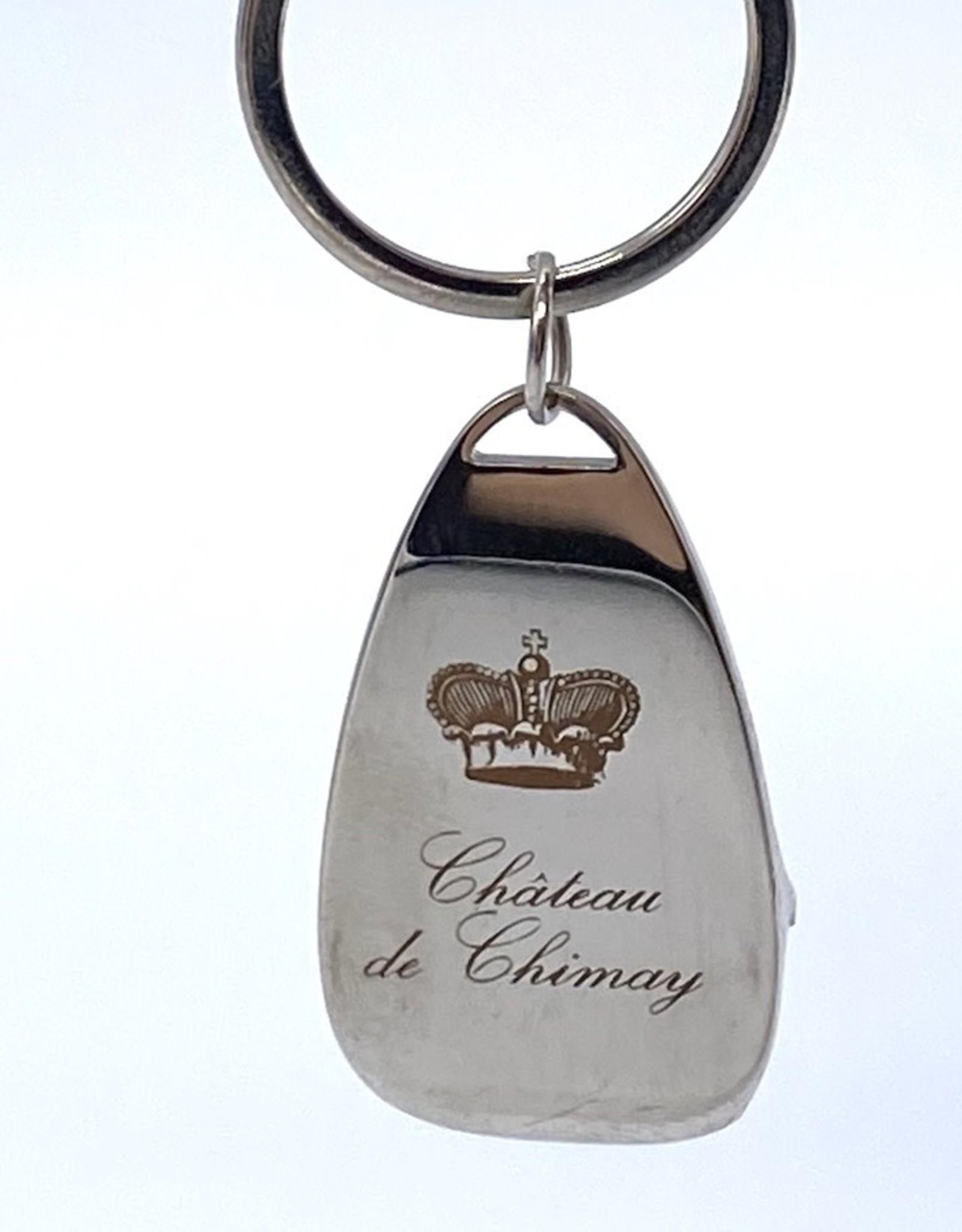 Château de Chimay Porte-clé métal + décapsuleur