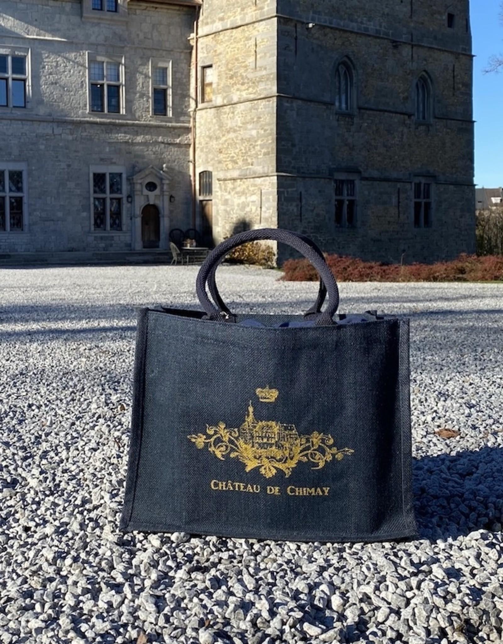 Château de Chimay Sac jute bleu grand