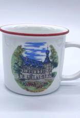 Château de Chimay Tasse ceramique bordure rouge