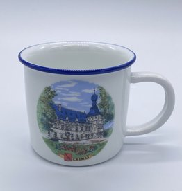 Château de Chimay Tasse céramique bordure bleue