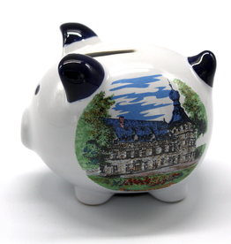 Château de Chimay Tirelire cochon bleu