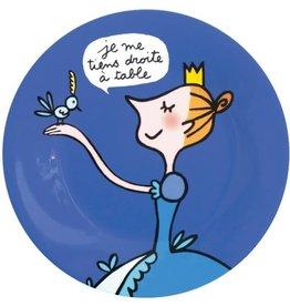 Petit Jour Paris Assiette Princesse Je me tiens droite
