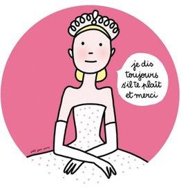 Petit Jour Paris Assiette Princesse fuchsia