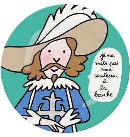 Petit Jour Paris Assiette Prince je ne mets pas mon couteau
