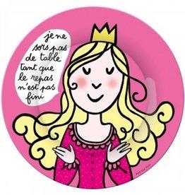 Petit Jour Paris Assiette Princesse je ne sors pas de table