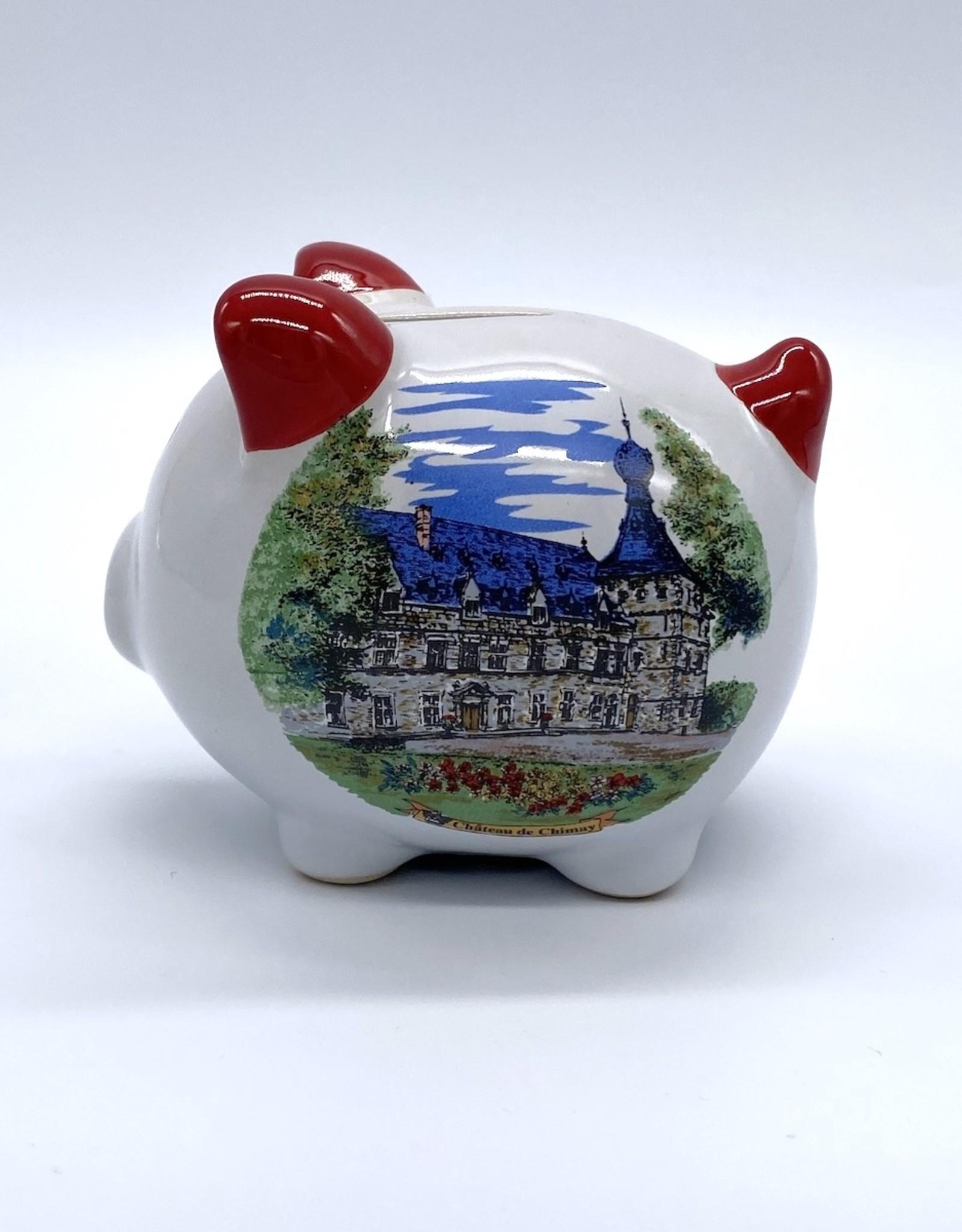 Château de Chimay Tirelire cochon rouge