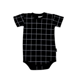 Deer One Deer One Romper Black Grid