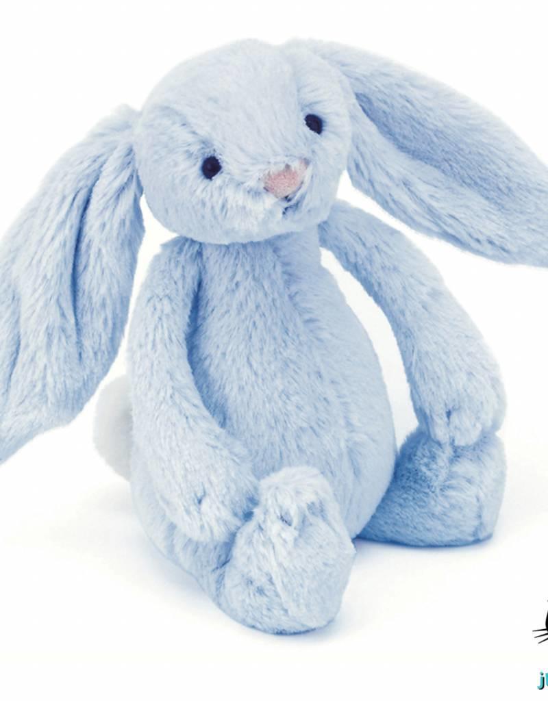 Jellycat Jellycat Bashful Bunny Blauw ratel 18cm