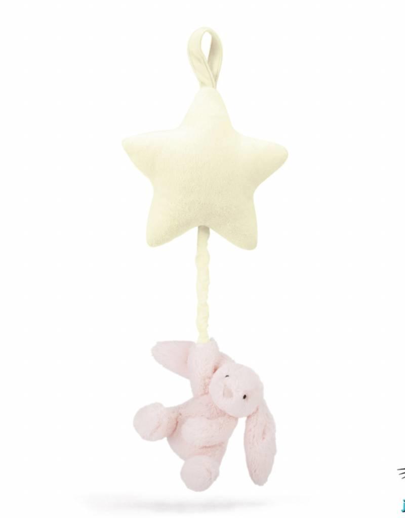 Jellycat Jellycat Bashful Pink Bunny Star Musical Pull
