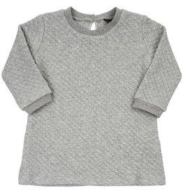 CarlijnQ CarlijnQ Chunky Grey Sweater jurk (Laatste! Maat 74/80)