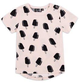 CarlijnQ CarlijnQ Icecream roze t-shirt (Laatste! Maat 50/56)