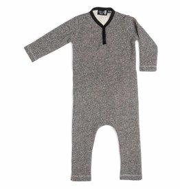CarlijnQ CarlijnQ jumpsuit zwart/wit gevoerd Knit (Laatste Maat 86/92)
