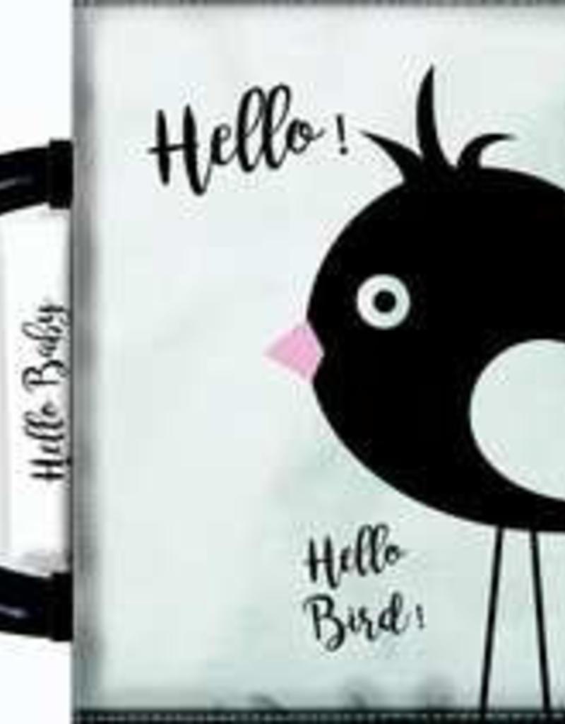 Hello Baby Hello Baby Zwart Wit Knisperboekje Met Rammelaar