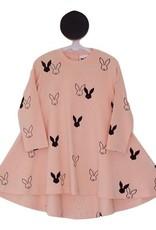 Deer One Deer One Peach bunny Love Swing jurk