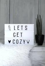 A Little Lovely Company A Little Lovely Company Lightbox A4: Zwart