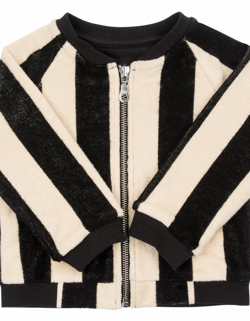 CarlijnQ CarlijnQ Mr. Tiger bomber jacket lined with black jersey (Maat 122/128)