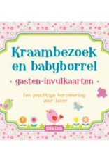 Uitgeverij Deltas Kraambezoek en babyborrel invulkaarten roze
