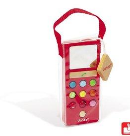 Janod Janod - Mobieltje met geluid rood