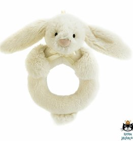 Jellycat Jellycat Bashful Cream Bunny Ring Rattle 12cm