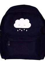 A Little Lovely Company A Little lovely Company - Zwart rugzakje met witte wolk