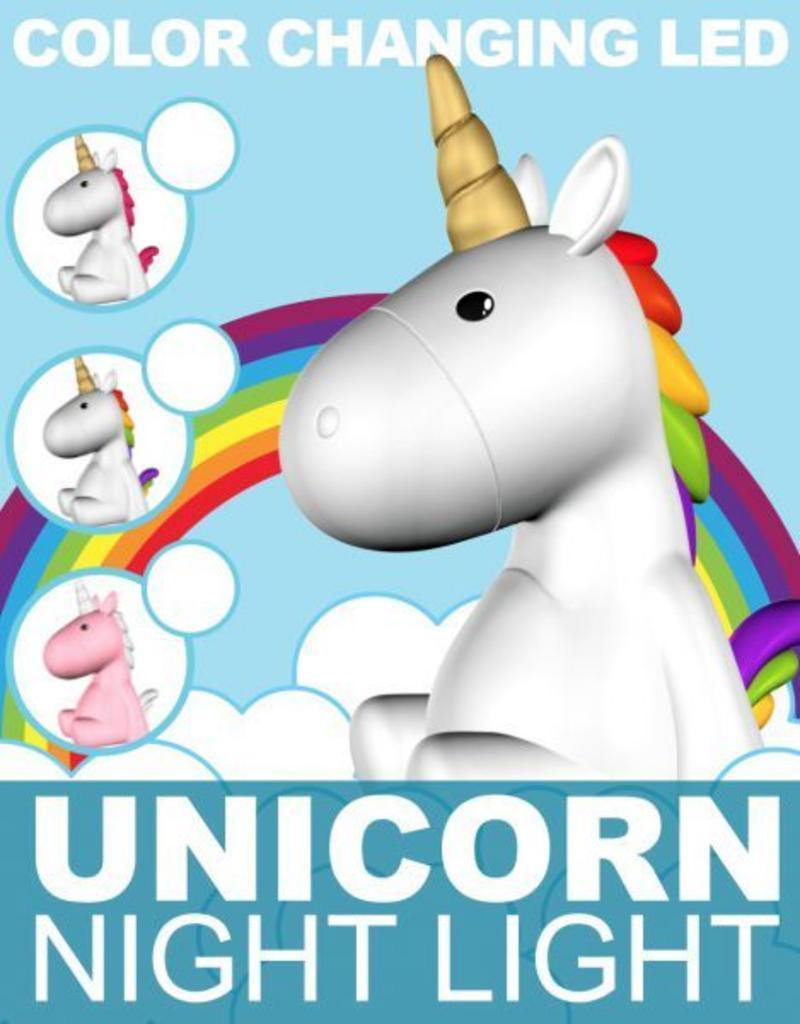 Unicorn nachtlampje gekleurd