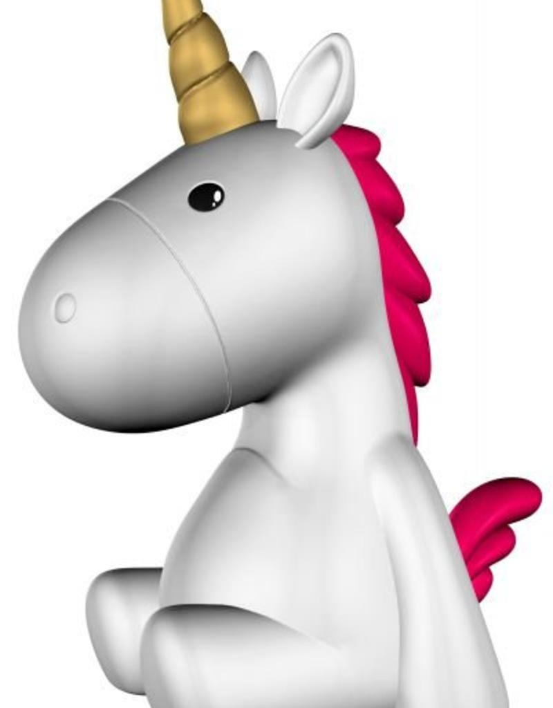 Unicorn nachtlampje roze manen met gouden hoorn