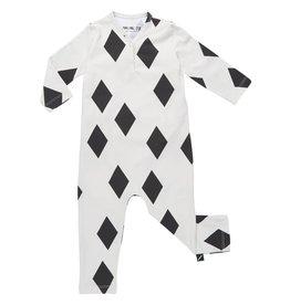 CarlijnQ CarlijnQ Diamonds Black jumpsuit (Laatste! Maat 74/80)