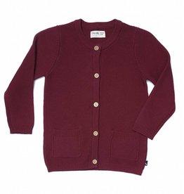 CarlijnQ | Nu -25% KORTING CarlijnQ  gebreid vest burgundy (rood)