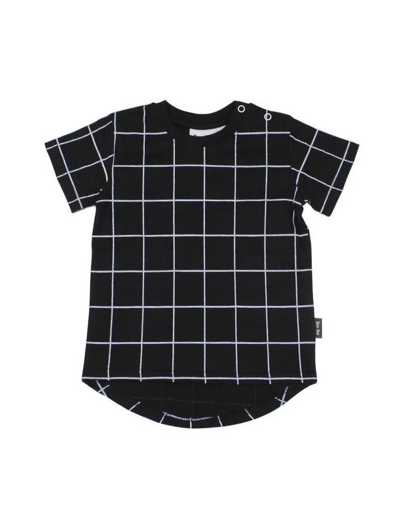 Deer One Deer One T-shirt Black Grid