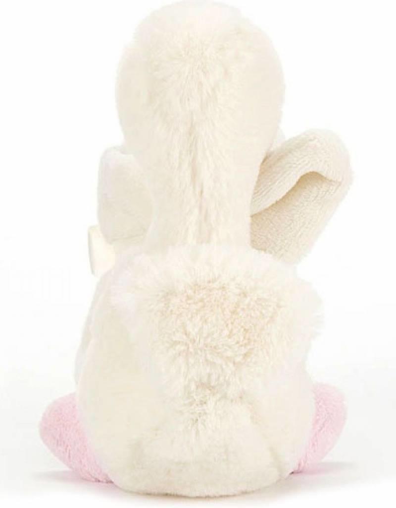 Jellycat Jellycat Syllabub Zwaan roze knuffeldoekje