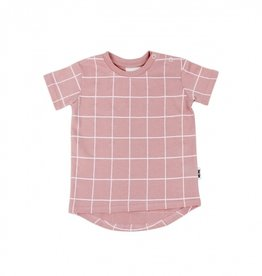 Deer One Deer One T-shirt Roze Ruit