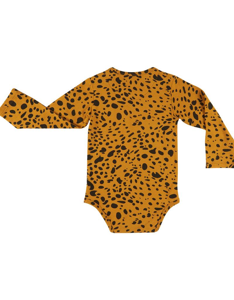 CarlijnQ CarlijnQ - Spotted Animal romper lange mouw