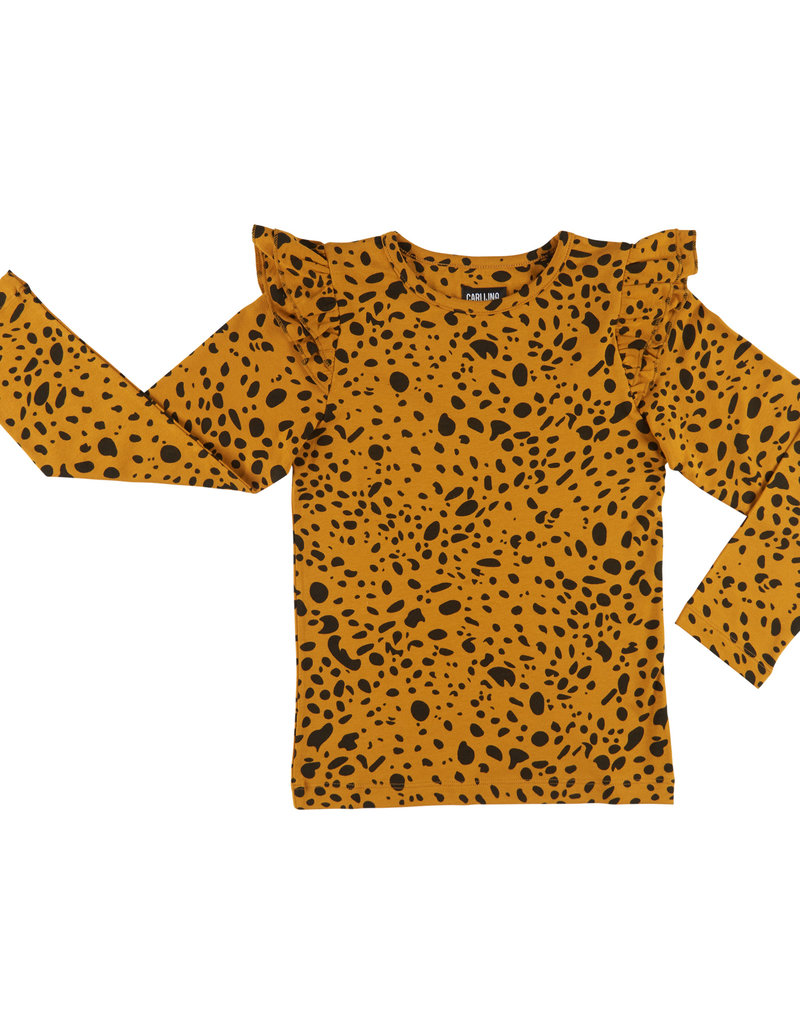 CarlijnQ CarlijnQ - Spotted Animal ruffled longsleeve