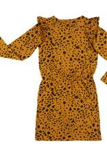 CarlijnQ CarlijnQ - Spotted Animal ruffled jurk