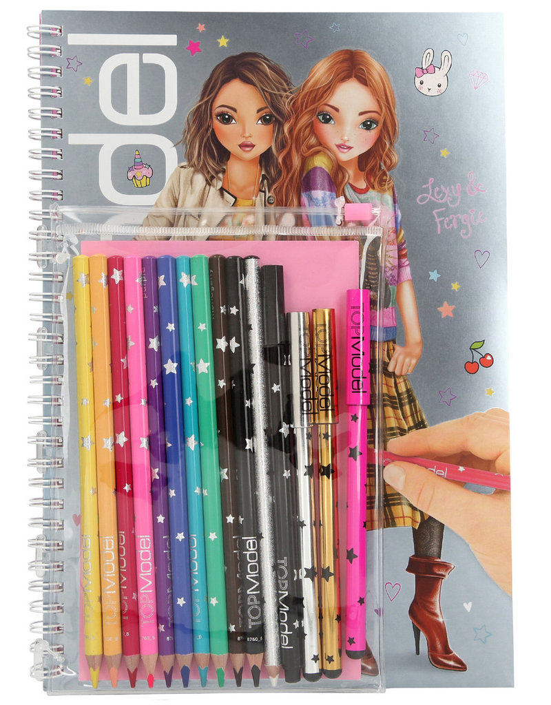 TOPModel TOPModel kleurboek met kleurpotloden